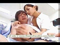 Rio innocent asian nurse enjoys doing handjob