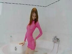 american super skinny chick on the bath