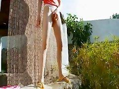 Peeing of beautiful czechian teenager