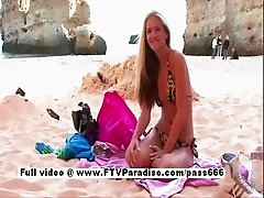 Suzanna tender a gorgeous blonde on the beach