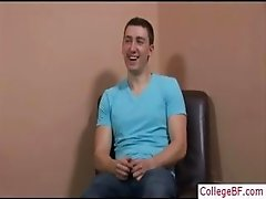 Cute college dude showing amazing body part1