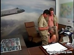 Admirable blonde MILF is fucked by two part6