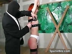 Slutty tied redhead gets with hot body