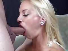 Sexy blonde Cameron Canada likes a cock deep