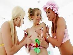 lesbians hardcore butt toying