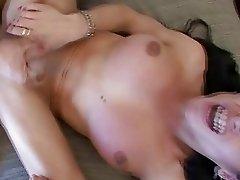 Brunette Tranny Hot Doggie Bareback