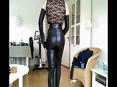 Sissy sexy leather girl 1