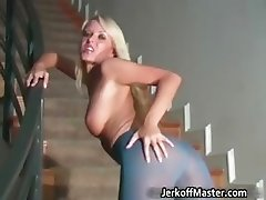 Awesome blonde babe is a real cock part2