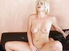 Hot blonde first time on video