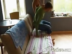 Russian couple banging at home