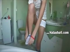 german Natasha at water closet