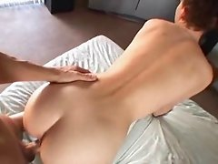 Her BF gives her a creampie