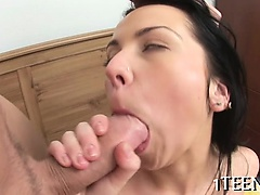Wet pussy licking and irrumation