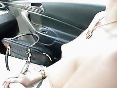 Gorgeous hitchhiker Elisabeth publc fuck