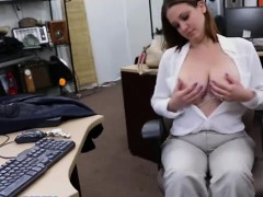 Real big tit amateur eats cock