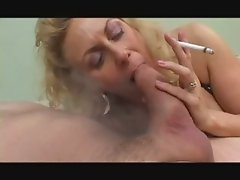 Hot Mature Blonde Smoking Blowjob (short clip)