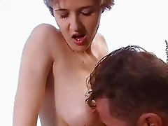 Cum thirsting bitch Jane Darling receives a rich load of cock load on her mouth