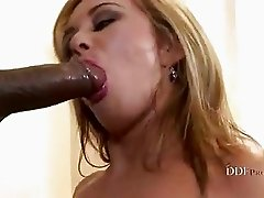 Filthy Constance Devil gets a monster black cock shoved deep down her throat