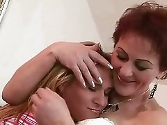 Mature mom and hot teen enjoy lesbian sex