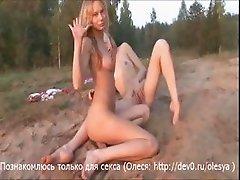 Lesbians on nature