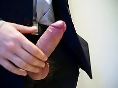 Businessman Jacking off.