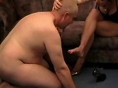 Humiliated by a foot MILF