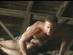Cowboy Farmhands fucking in a barn....