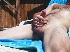 Back Yard Masturbation