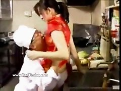 Chinese Teen  Fucked In Restaurant