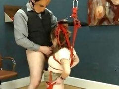 To much of rope and delicate BDSM submissive sex