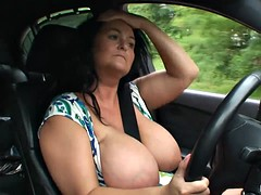 Busty reny public intermittent video