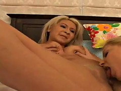 three horny lesbian broads having hot sex