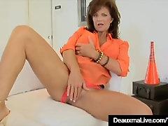 Jizz-Shotgun Greedy Milf Deauxma Gets A Pecker In All Her Fuckholes!