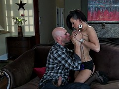 cheating wife eva angelina being recorded by her boyfriend with a camera sucking his cock