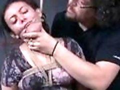 Bondage slave has creepy sex time with dungeon master BDSM