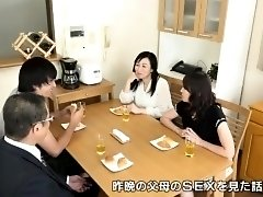Busty Asian milf exchanges oral pleasures with a young guy