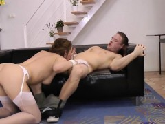 Brit in stockings pounded