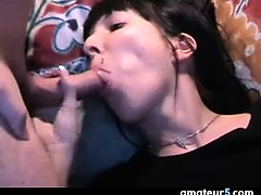 Cute Chick Sucks On Her Lovers Dick