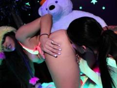 Romi and Dani lesbian black-light fun