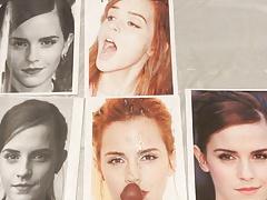Cumshot Tribute: Slow Motion Emma Watson