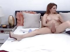 Sexy gorgeous shemale expose her nice round tits l