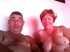 Big breasted webcam granny shows off her blowjob abilities