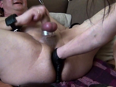 Kinky guy spreads his legs and begs for a deep anal fisting