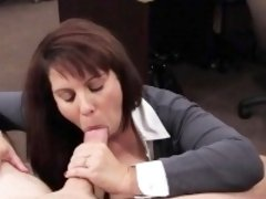Big tits and gorgeous MILF gets her tight pussy hammered