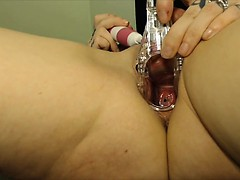 My red cervix deep inside my pussy