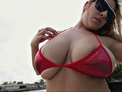 puerto rican latin milf jazmyn has a sweet pair of big jiggly tits