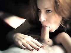 Super slow motion blowjob from redhead
