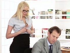 Vanessa Cage gets fucked at the desk