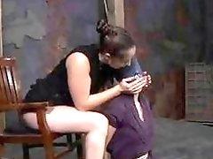 Hot babe gets hard punishment from creepy lesbian mistress BDSM
