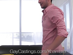 GayCastings - Tanned stud Ethan Travis gets fucked
